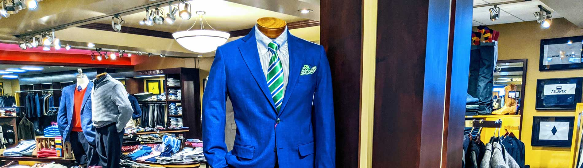 Blue mens suit